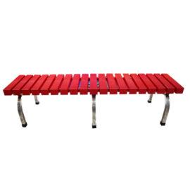 Băng ghế nhựa 1m9 - màu đỏ